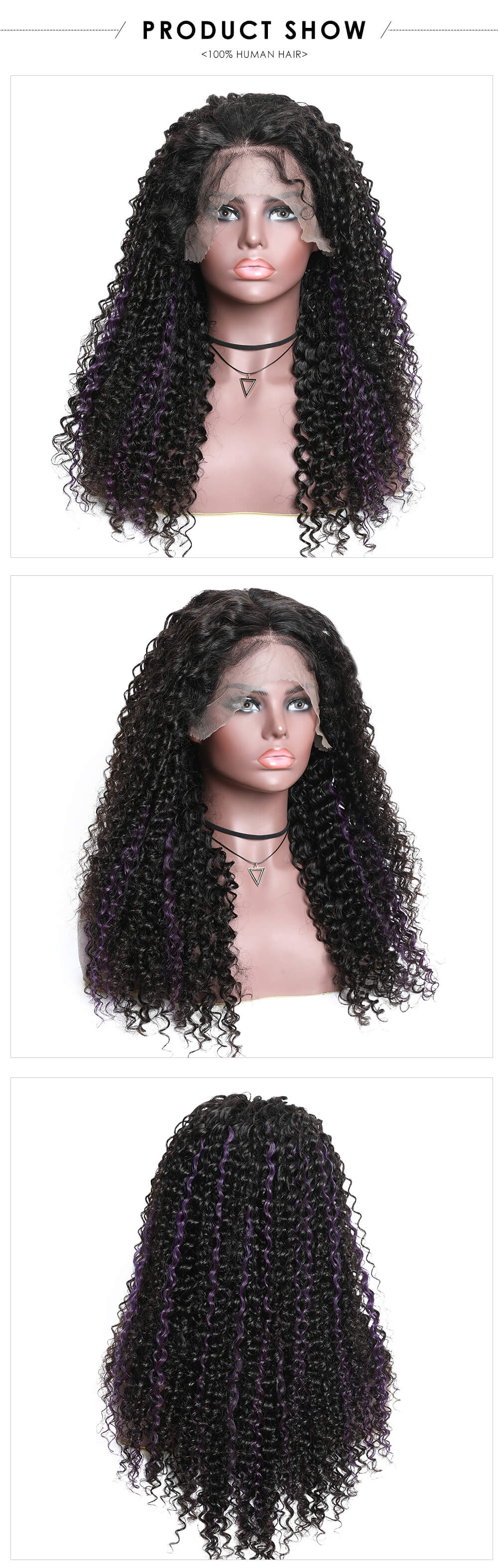 highlinght color lace wig