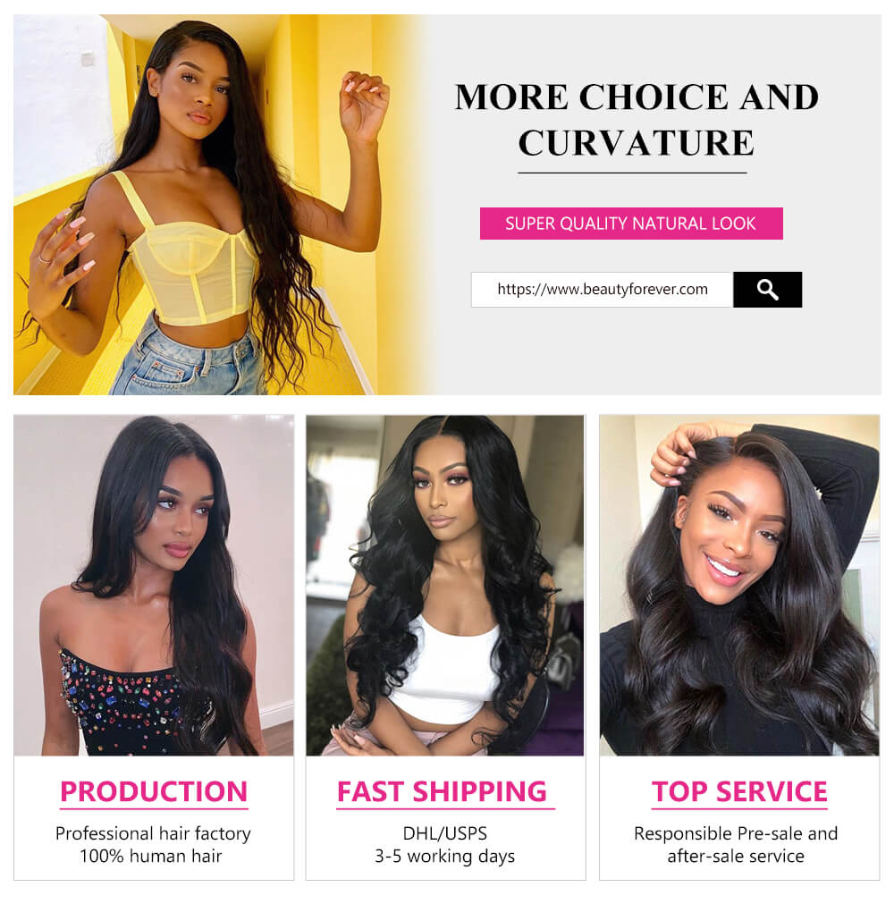 Body wave 4bundles with lace frontal