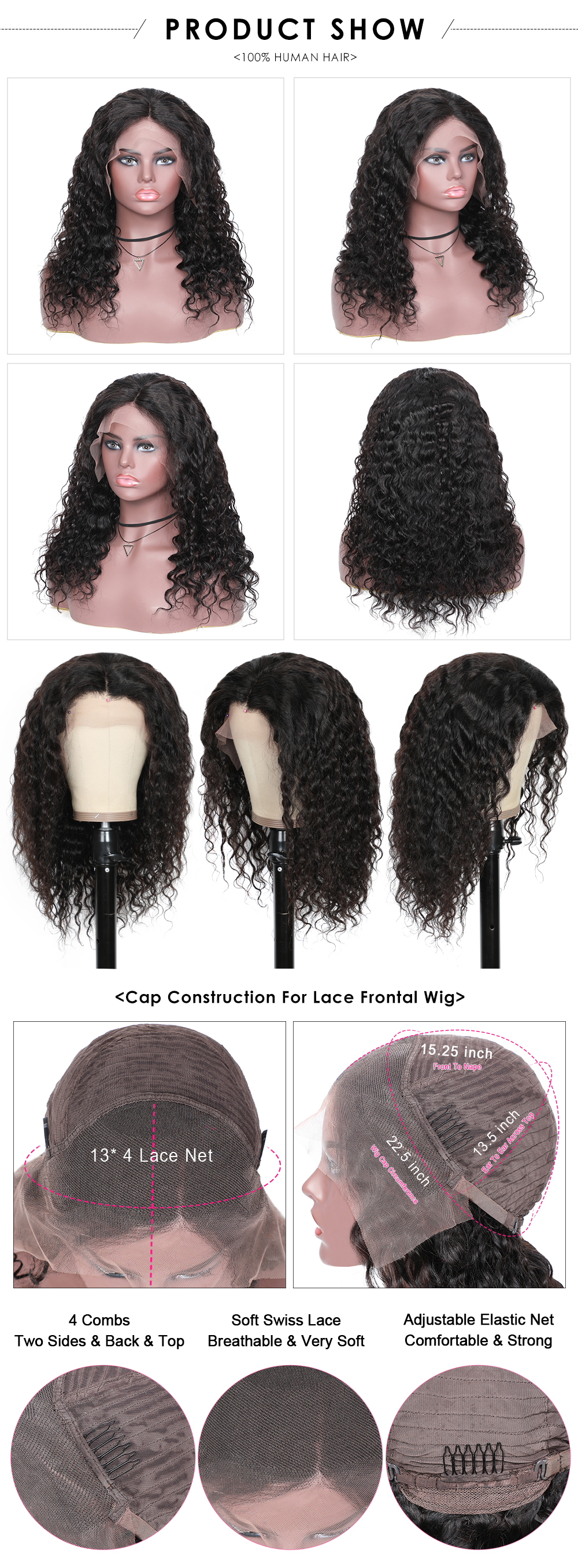 Loose Wave 13x4 Lace Front  Wigs