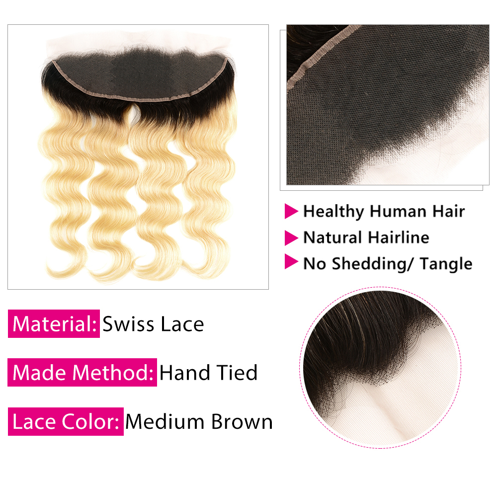 Body wave 1b-613 lace frontal