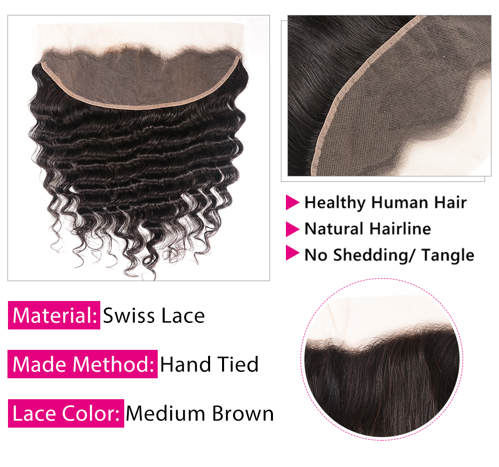 loose deep 13x4 lace frontal