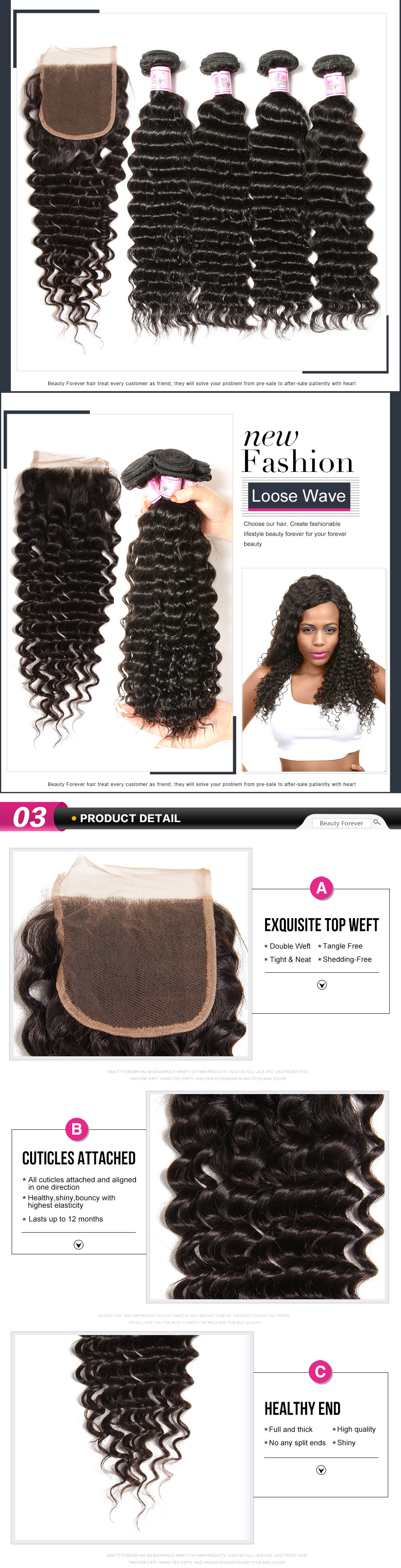 deep wave 3bundles with closure