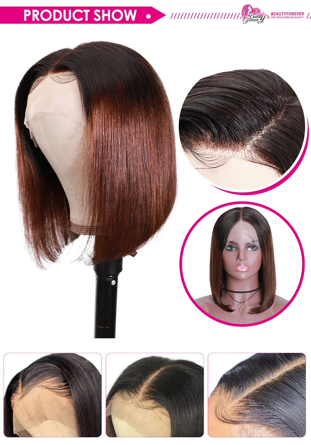 1B/4 Ombre Bob Lace Front Wig