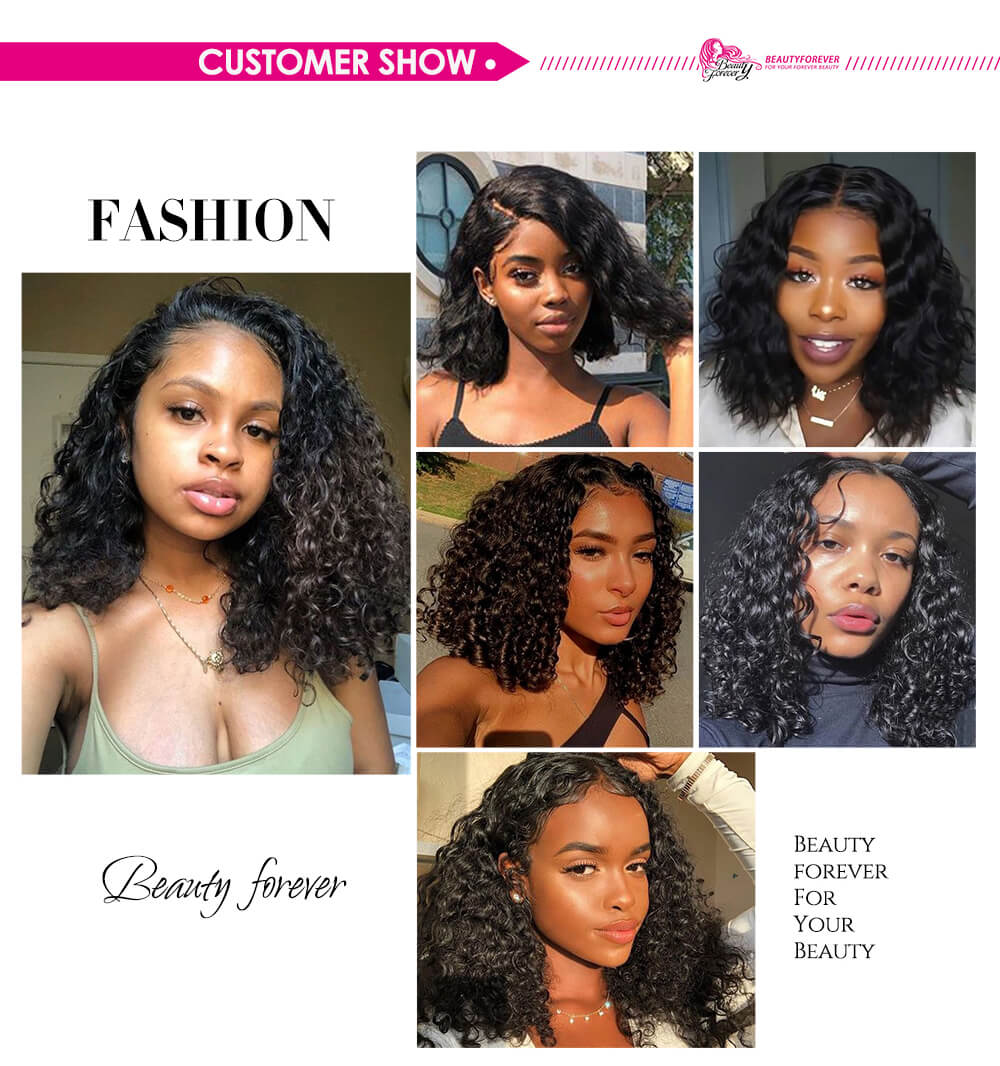 Bob 13x4 Lace Front Wigs Water Wave