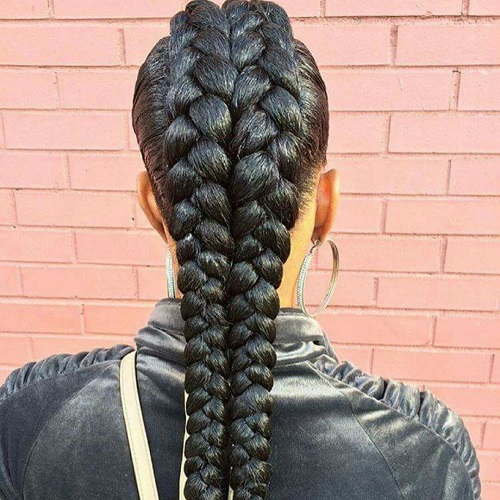 African American Hairstyle mohawk braids