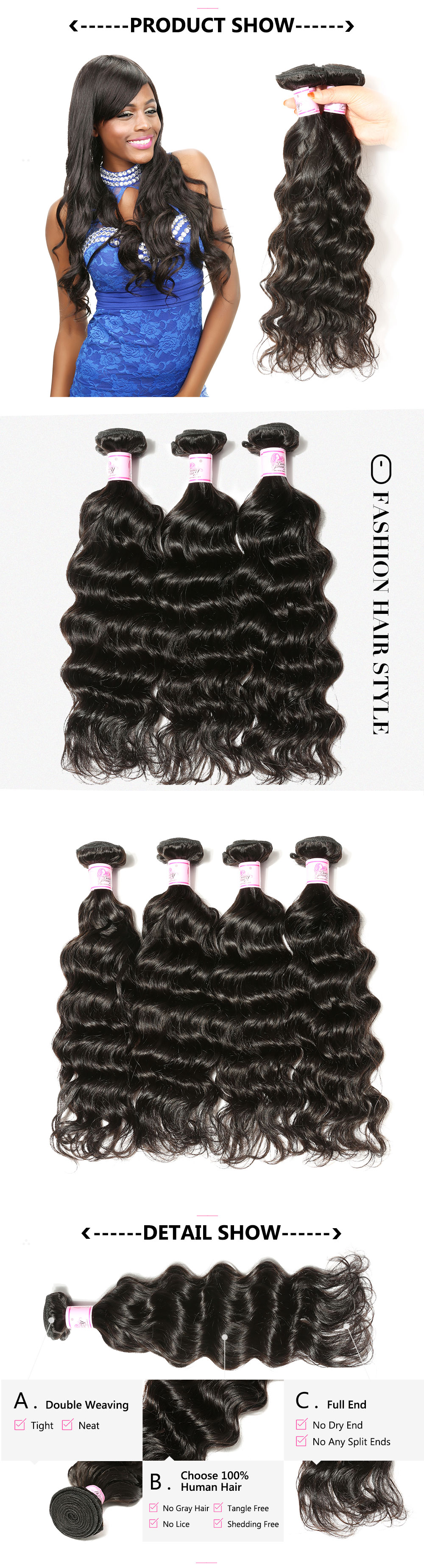 Unprocessed Indian Virgin Human Hair