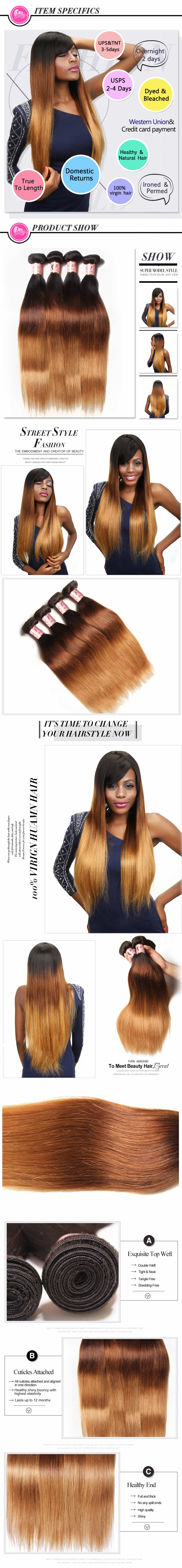 Ombre Straight Virgin Hair