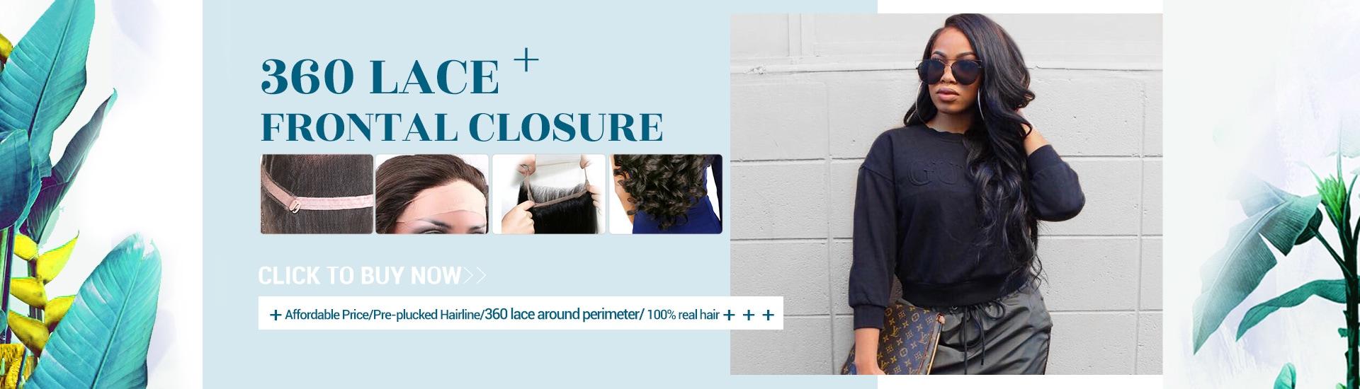 360 lace closure