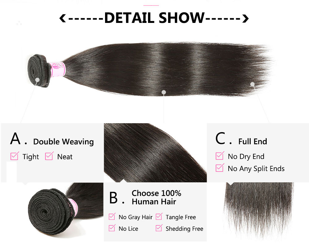 Remy straight hair bundles