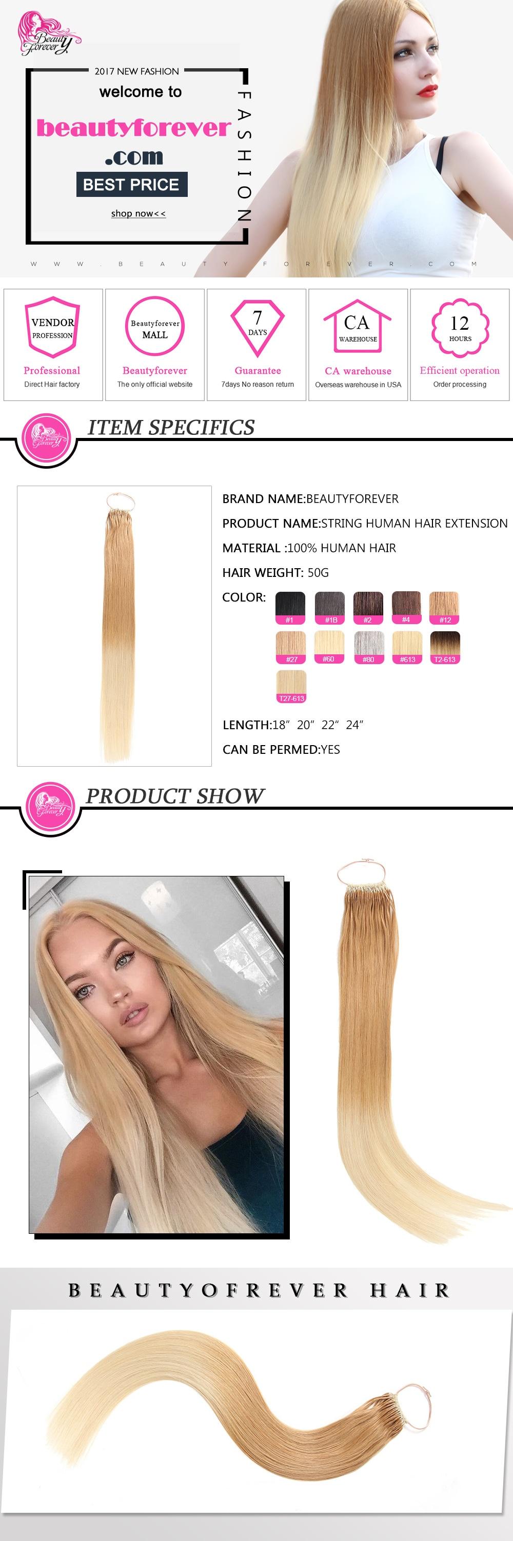 Malaysian String Human Hair Extensions
