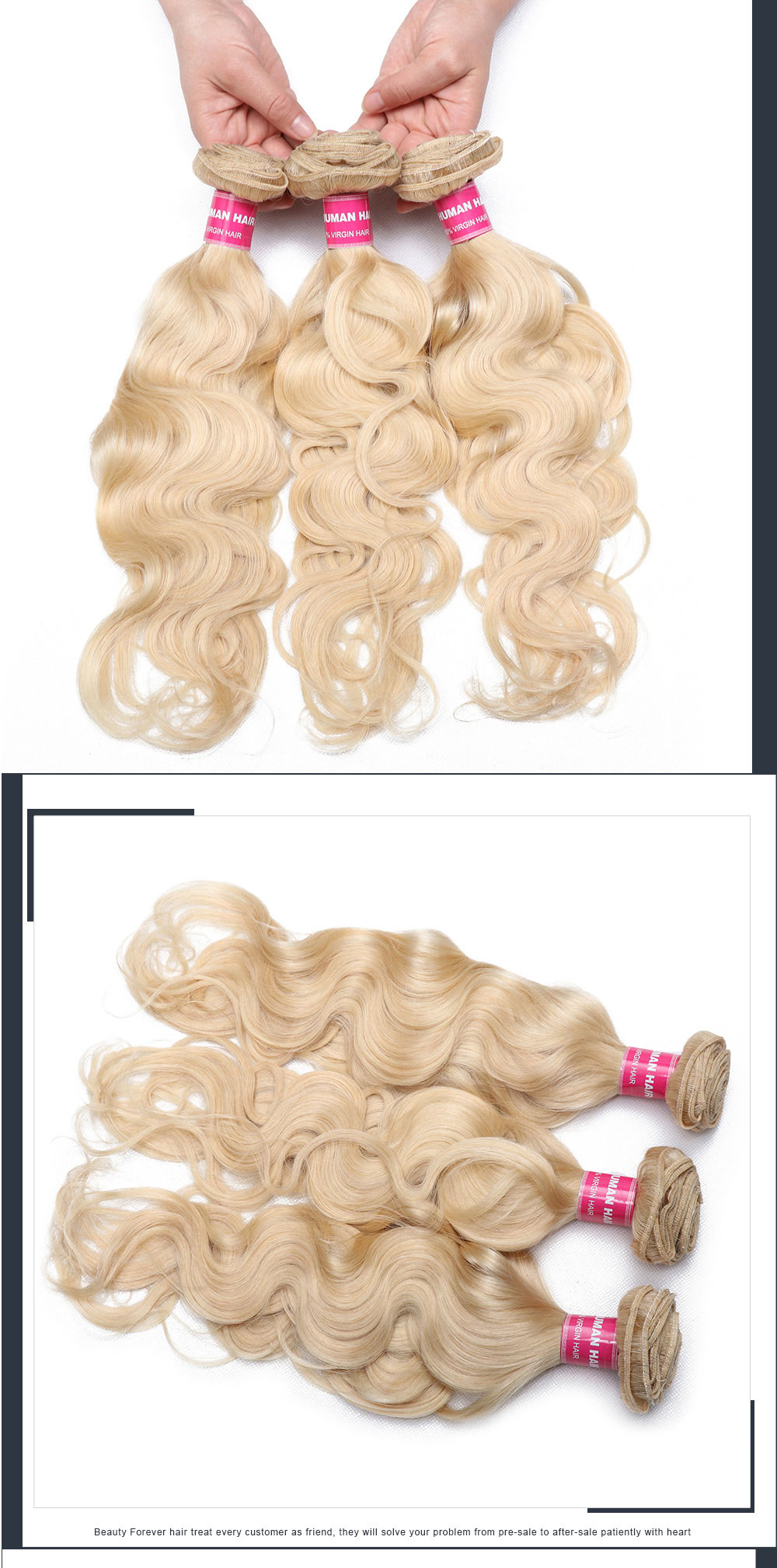 Blonde Hair Weft 3 Bundles