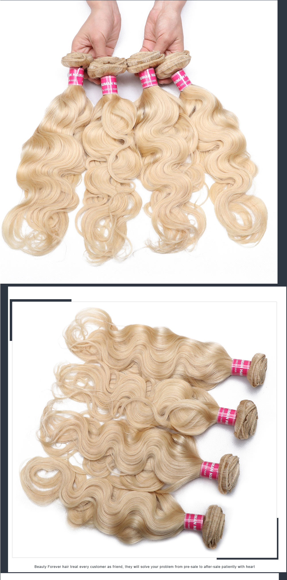 4 Bundles Blonde Hair Weft