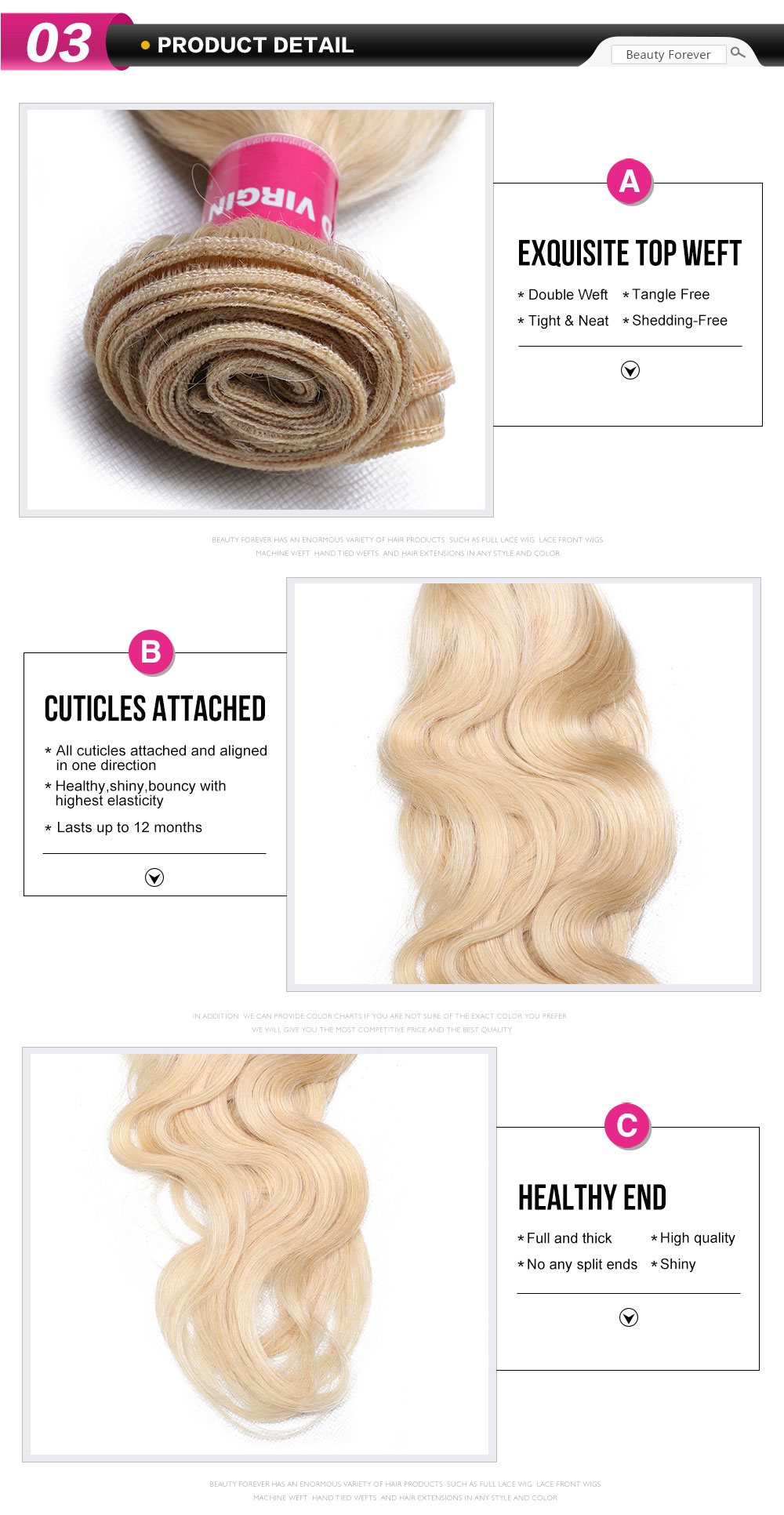 Blonde Body Wave Weave Extensions