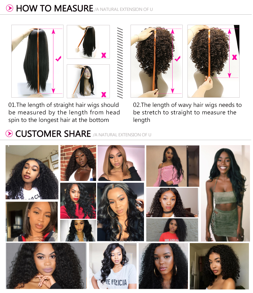 13x6 Lace Front Kinky Straight 150% Density Human Hair Wigs