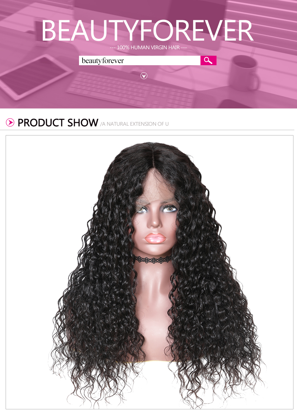 13x6 Lace Front Water Wave 150% Density Human Hair Wigs