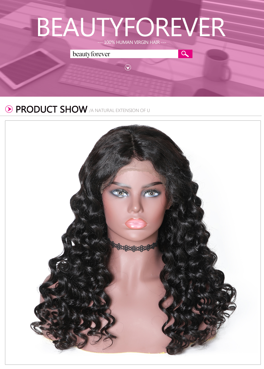 Beautyforever Natural Hairline Lace Front Italian Curly