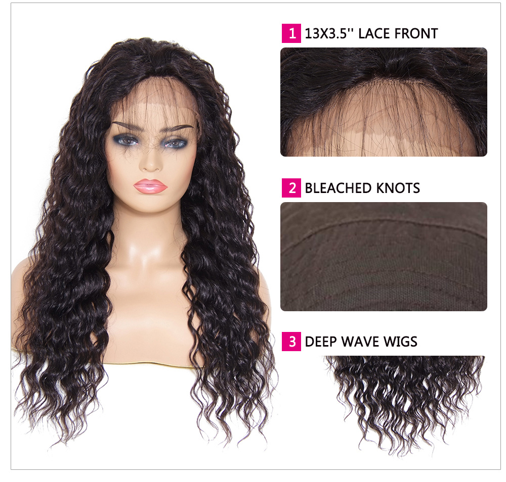 Beautyforever Long Deep Wave Free Part Lace Front Human Hair Wig With Baby Hair