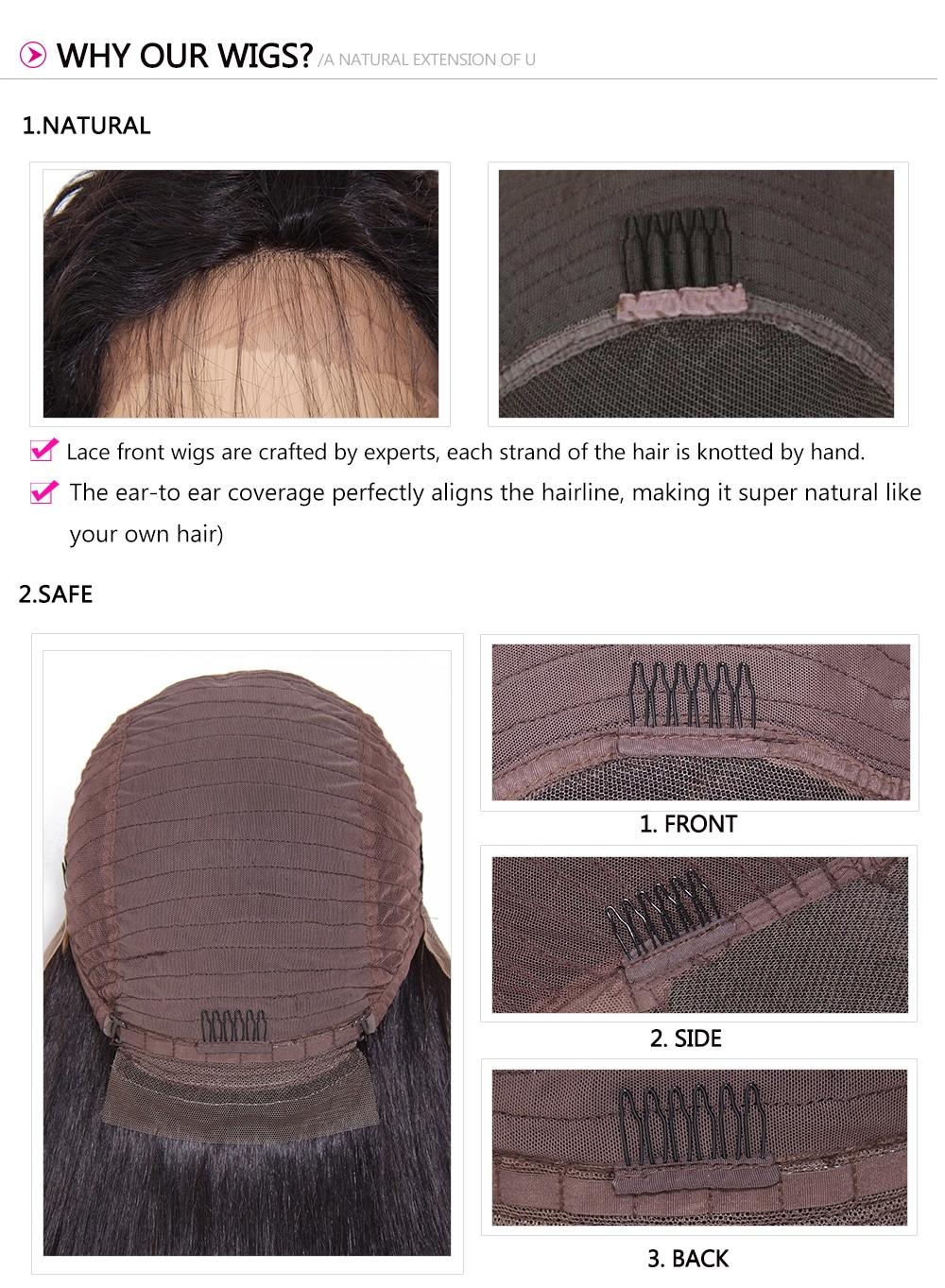 Long Deep Wave Lace Front Human Hair Wig