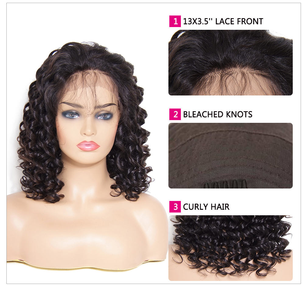 Beautyforever Medium Long Curly Free Part Lace Front Human Hair Wig With Baby Hair