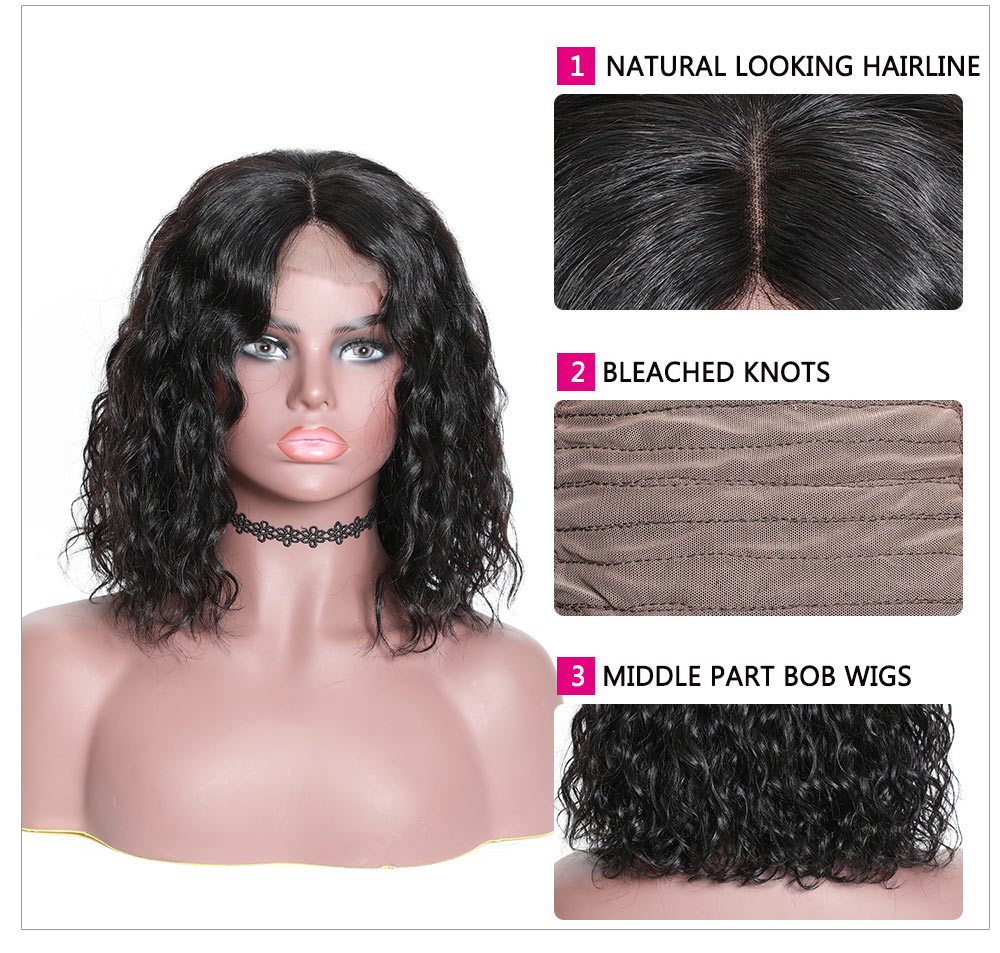 lace front water wave wigs