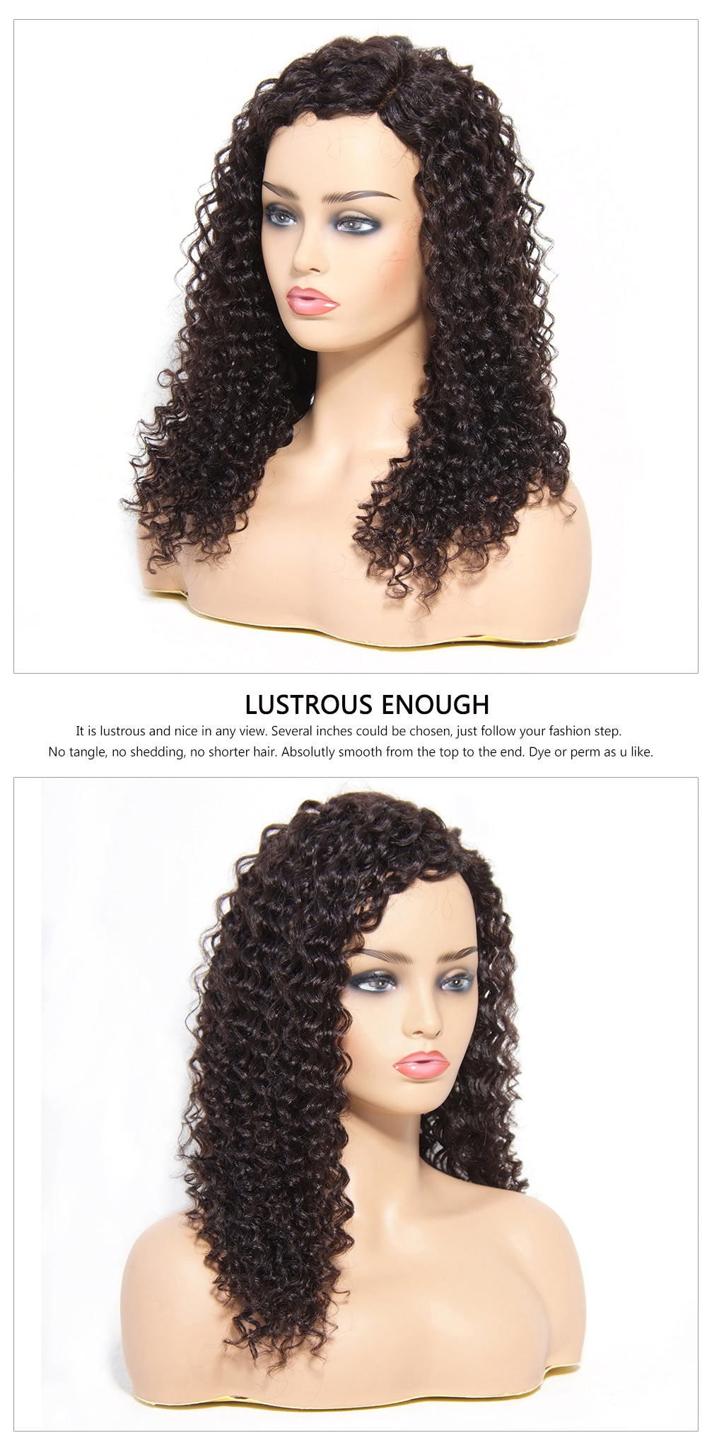 Deep Wave human Hair Wigs