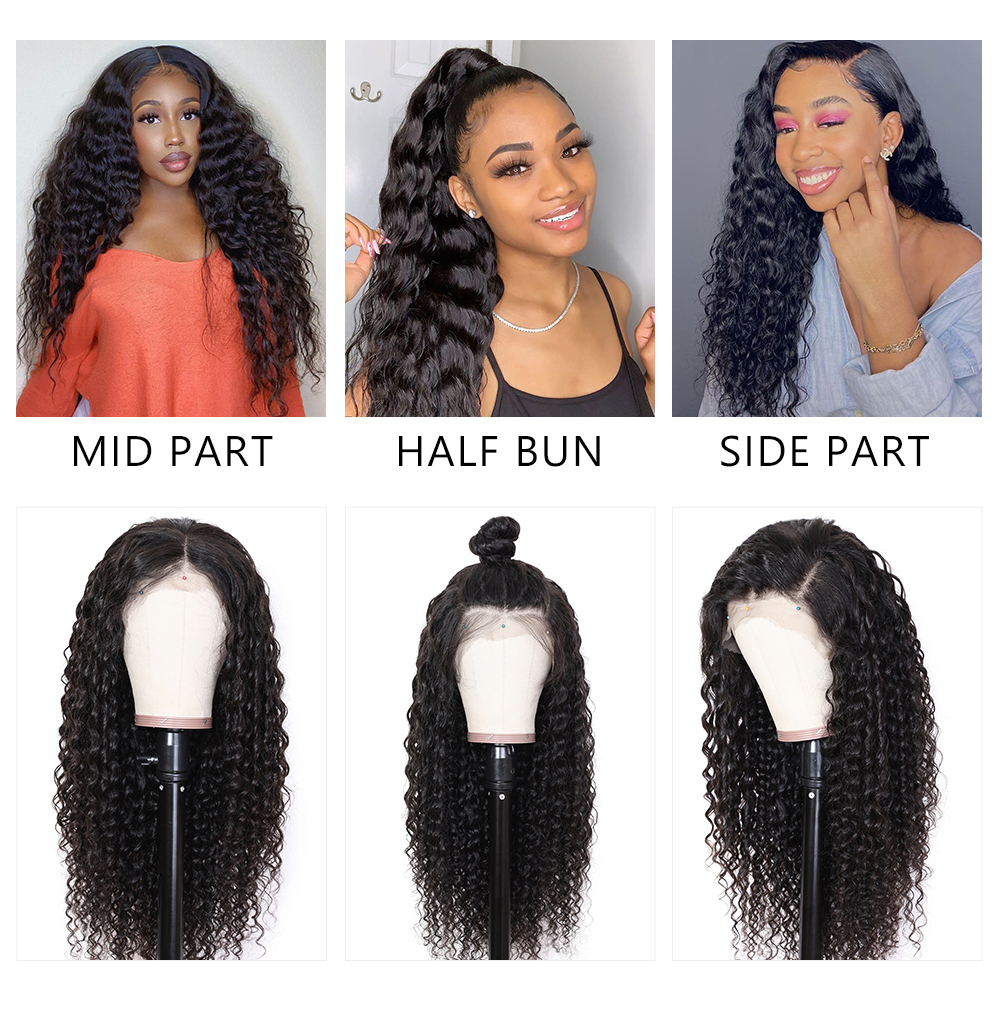 13x6 Pre Plucked Human Hair Lace Front Wigs