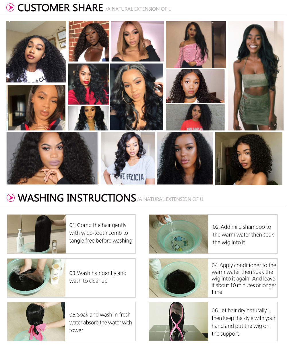 Natural Hairline Water Wave Wig