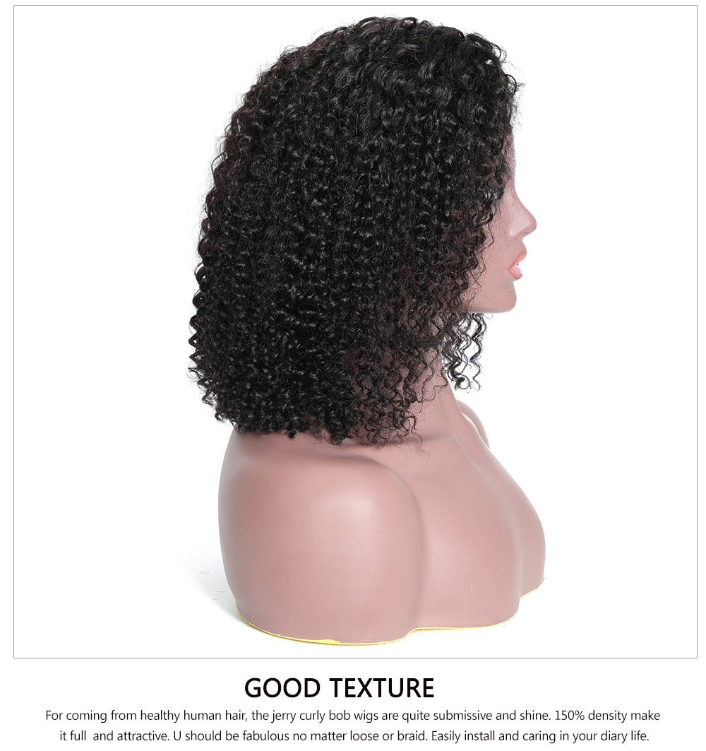 jerry curly human hair wig