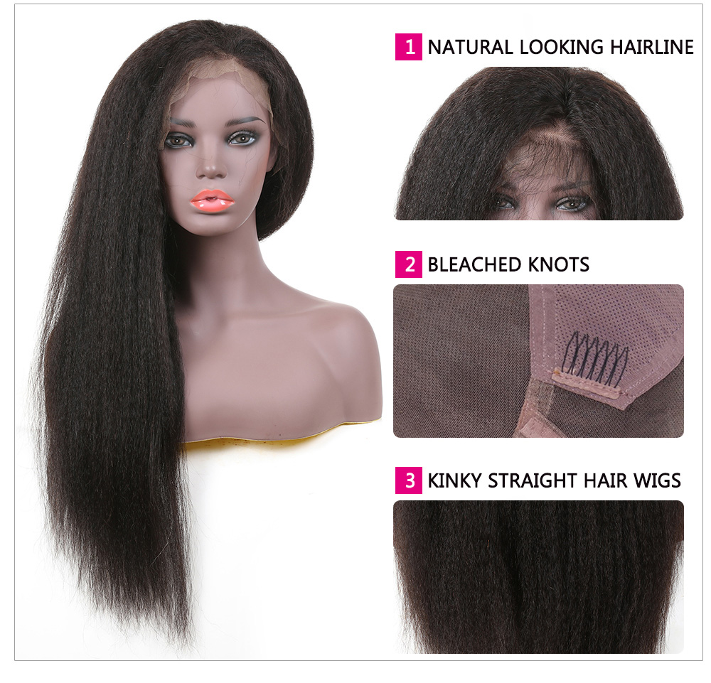 Affordable Kinky Straight Full Lace Wigs