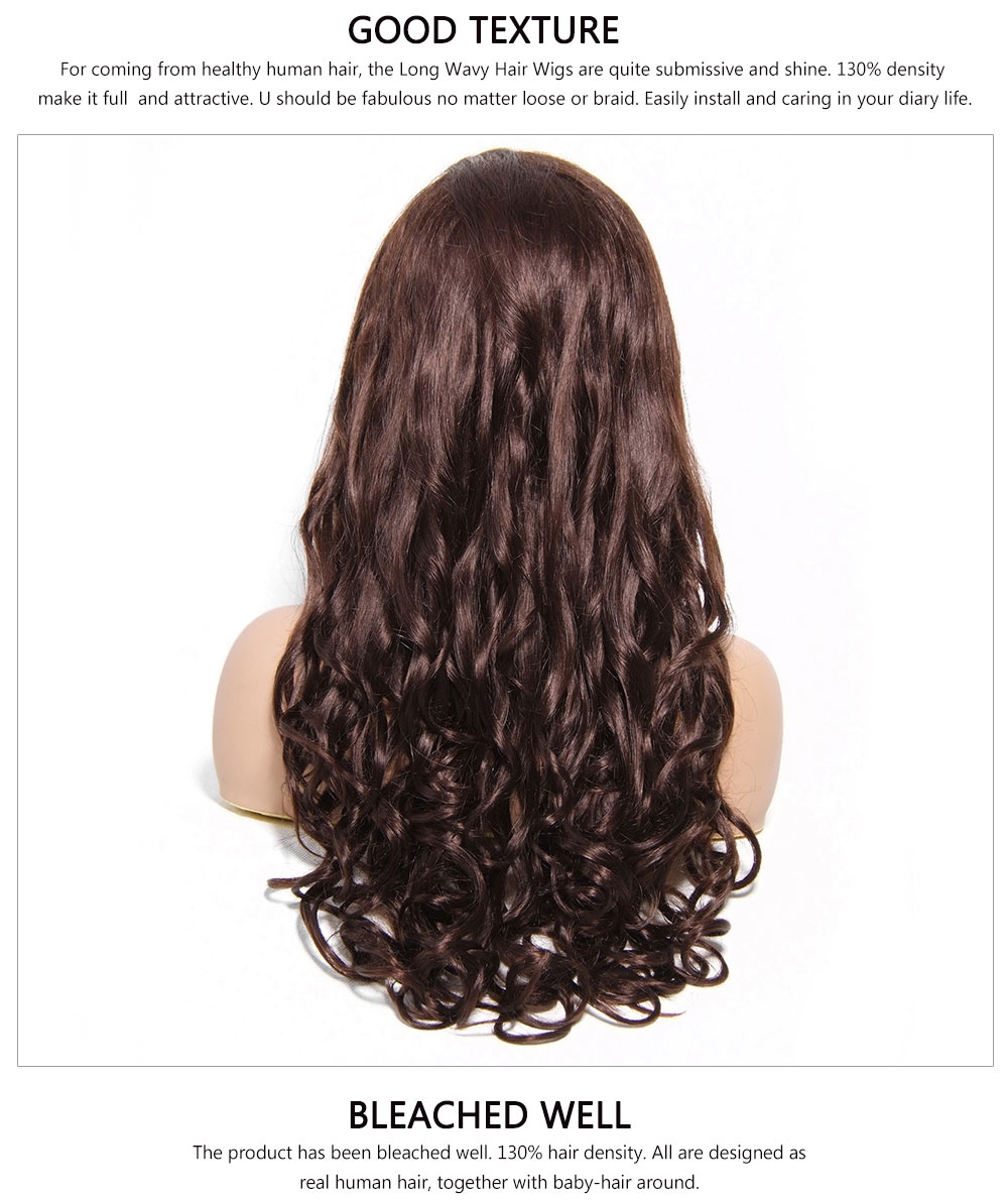Human Hair Long Wavy Wigs