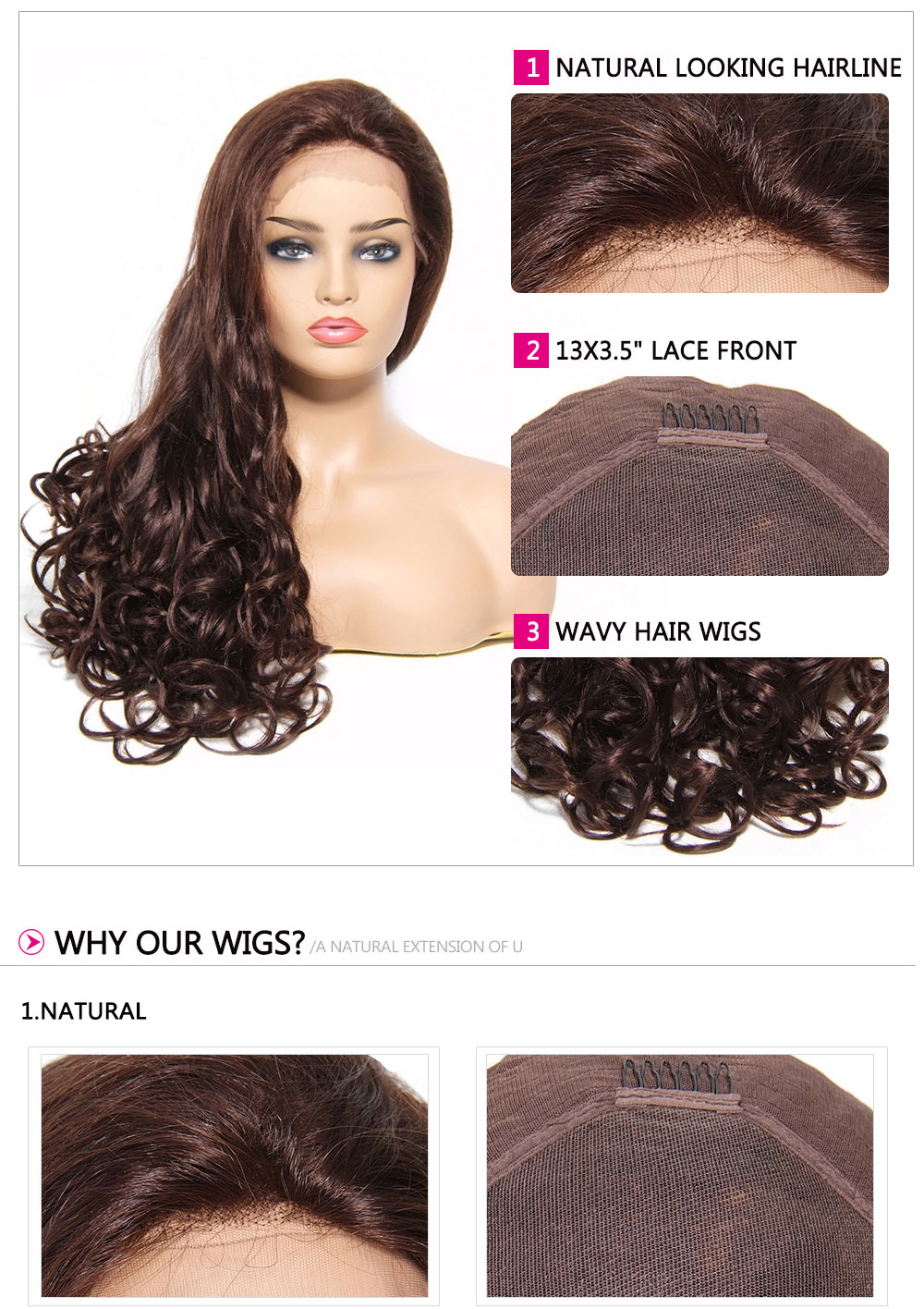 Wavy Curly Hair Wig For Women