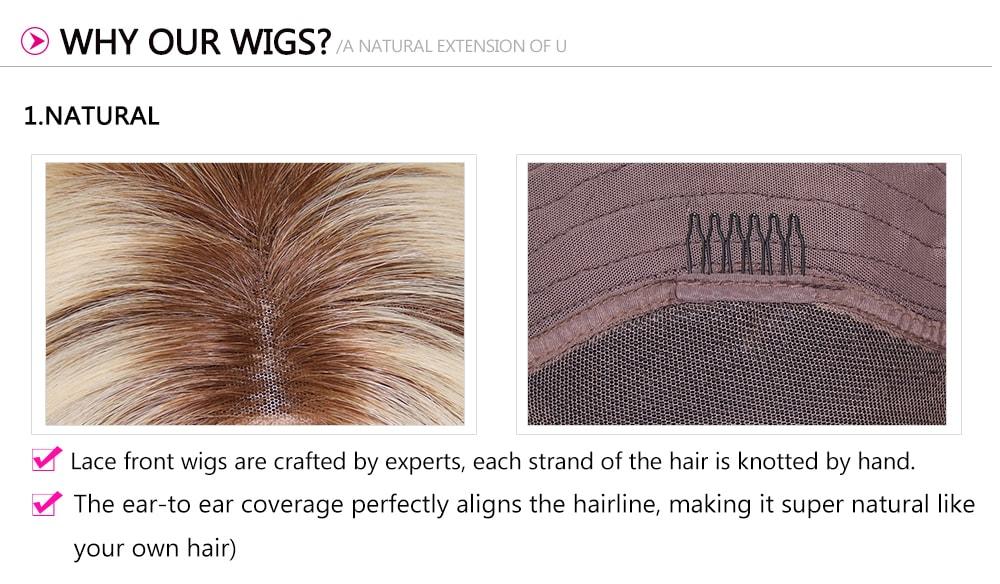 Medium Long Straight Lace Front Human Hair Wig
