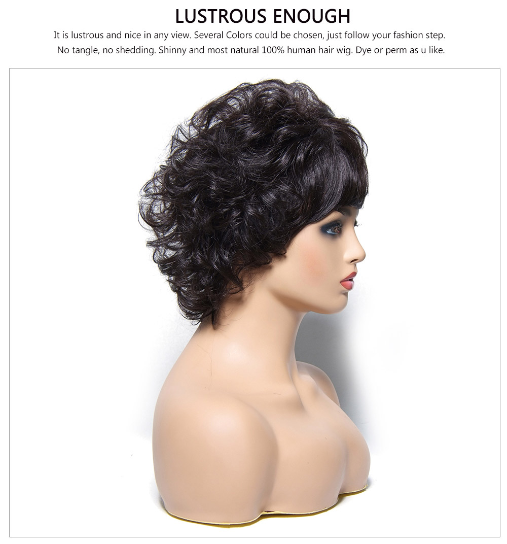 short Wavy wigs with bangs