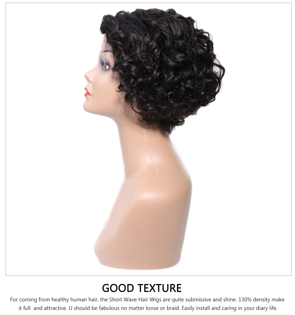 side part human hair wig