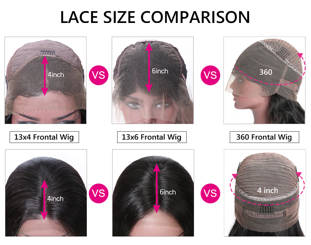 Straight 13x4 Lace Front Wigs
