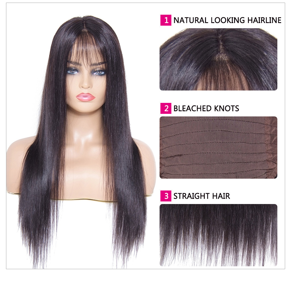 Straight Lace Front Human Hair Wig