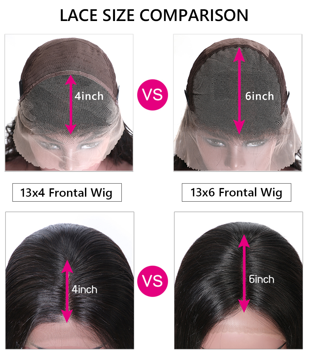 Straight transparent  Lace Front Wigs