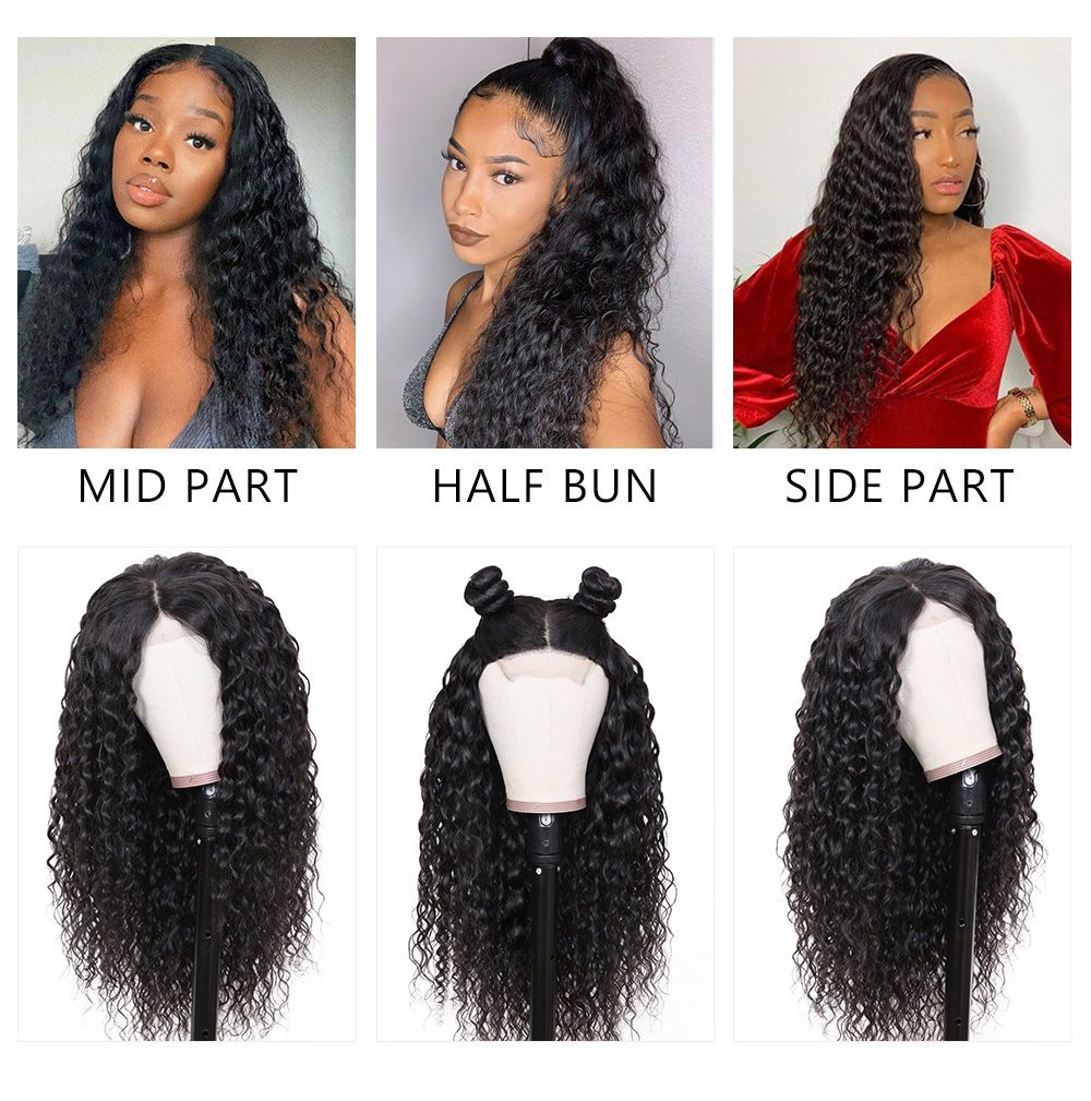 Pre-plucked Lace Front Water Wave Wigs