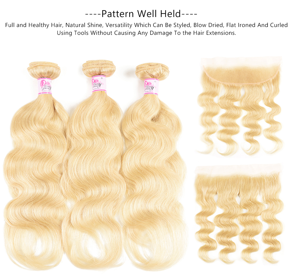 Body Wave 613 Blonde With Human Hair