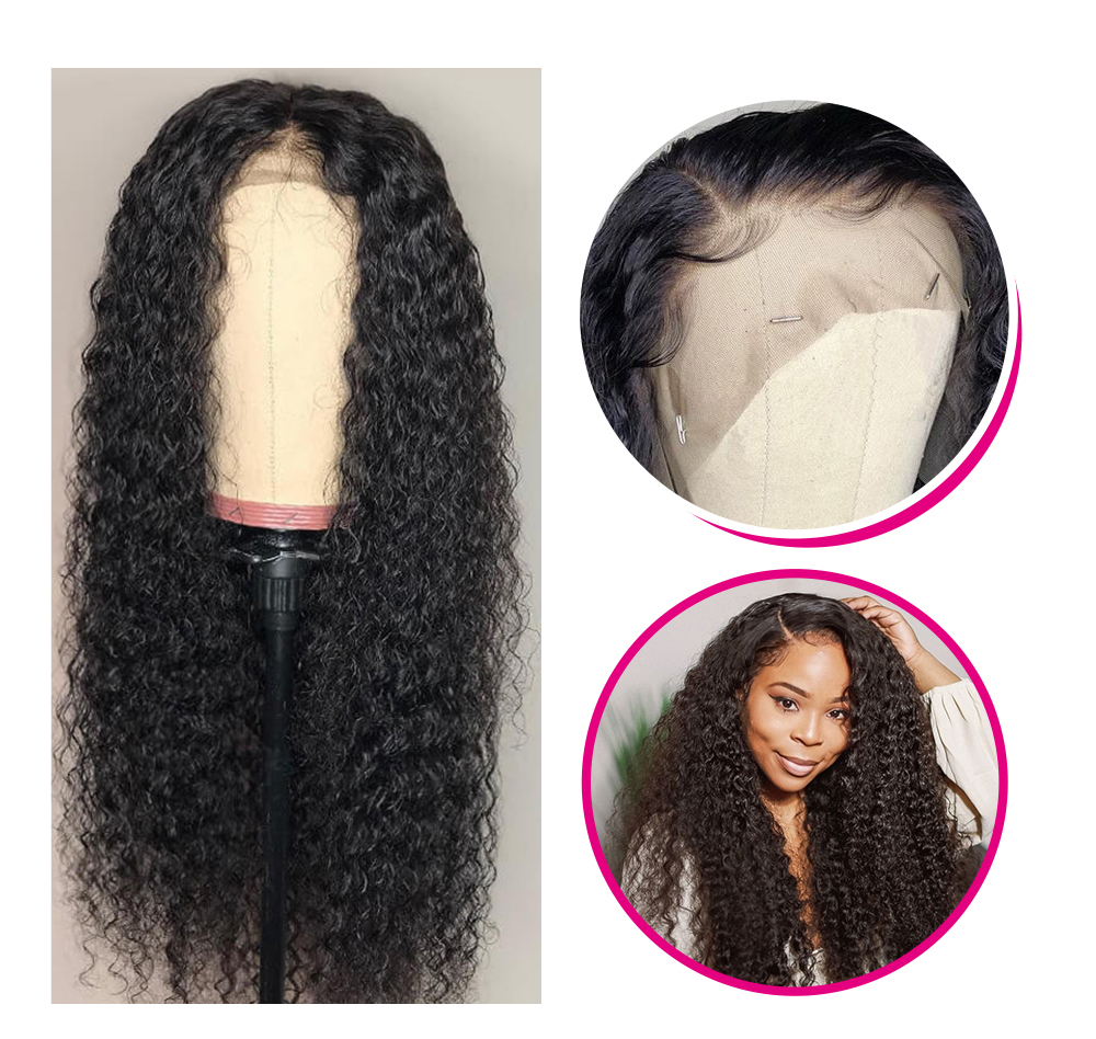 Jerry Curly 13x6 transparent lace front wigs