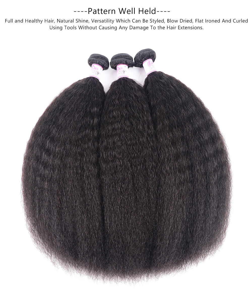 Kinky Straight Human Hair Wave