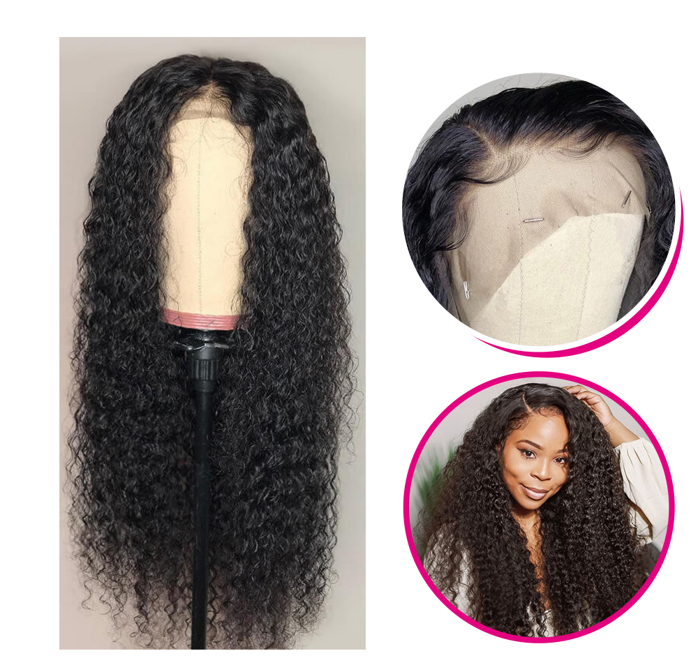 Jerry Curly 13x6 lace front wigs