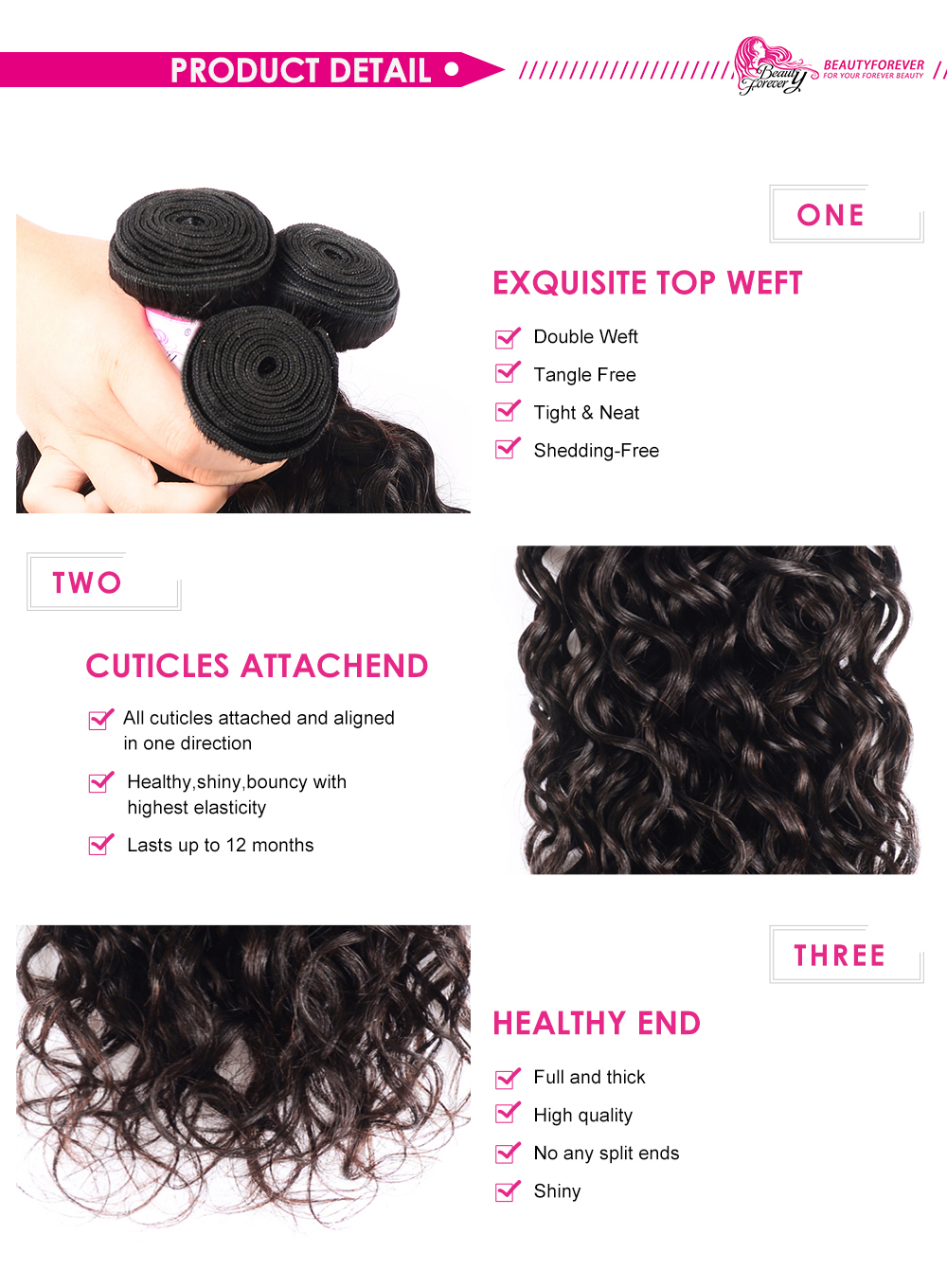 New Loose water with lace closure