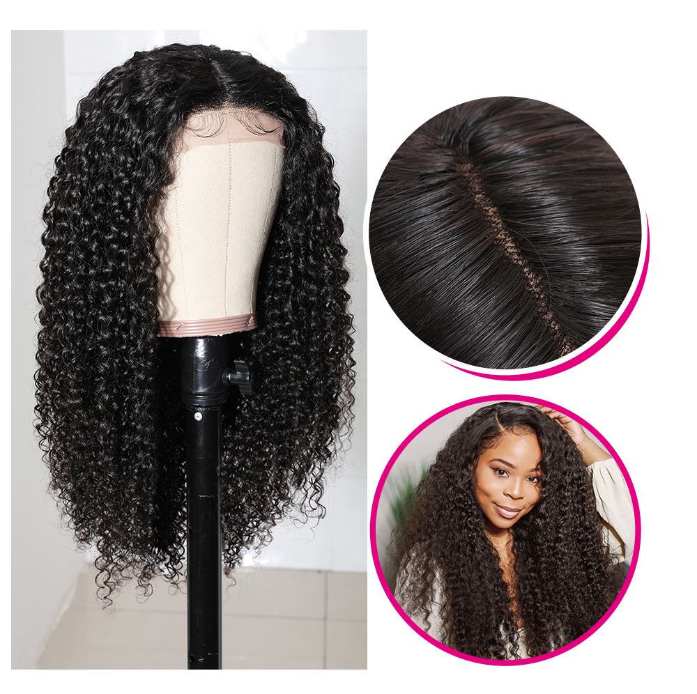 Jerry Curly Hair Lace Part Wig