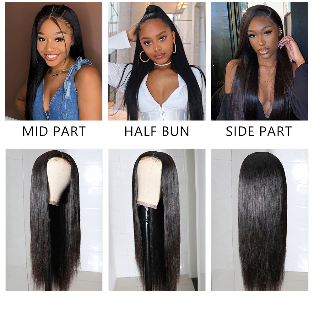 PU Skin Straight Wave Wig
