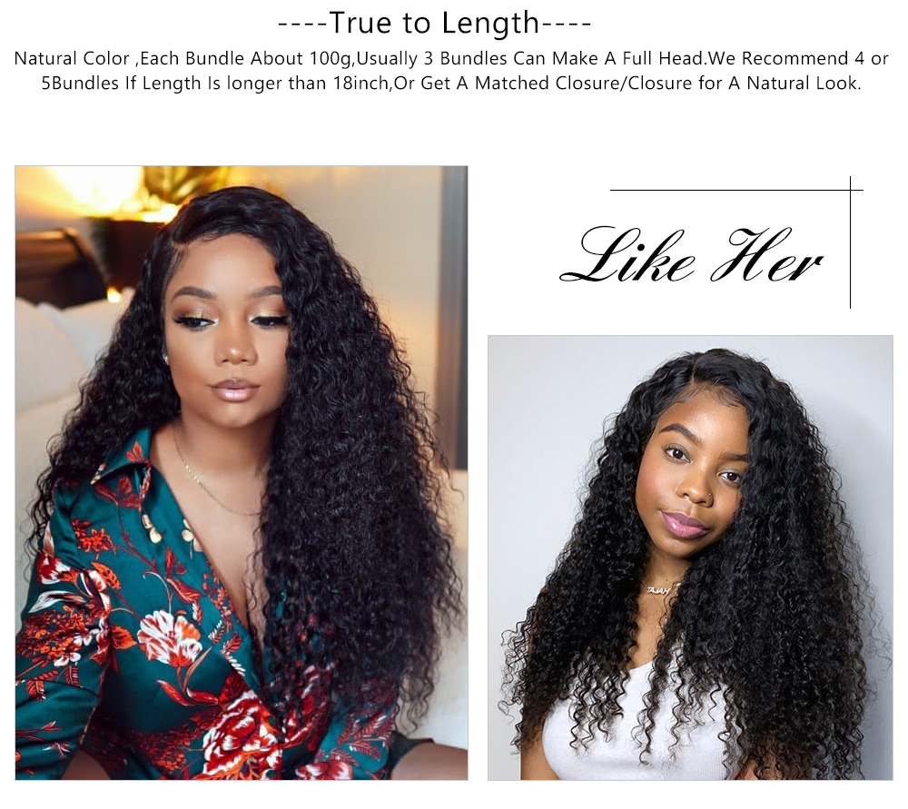 Jerry Curly Bundles Human Hair Wave