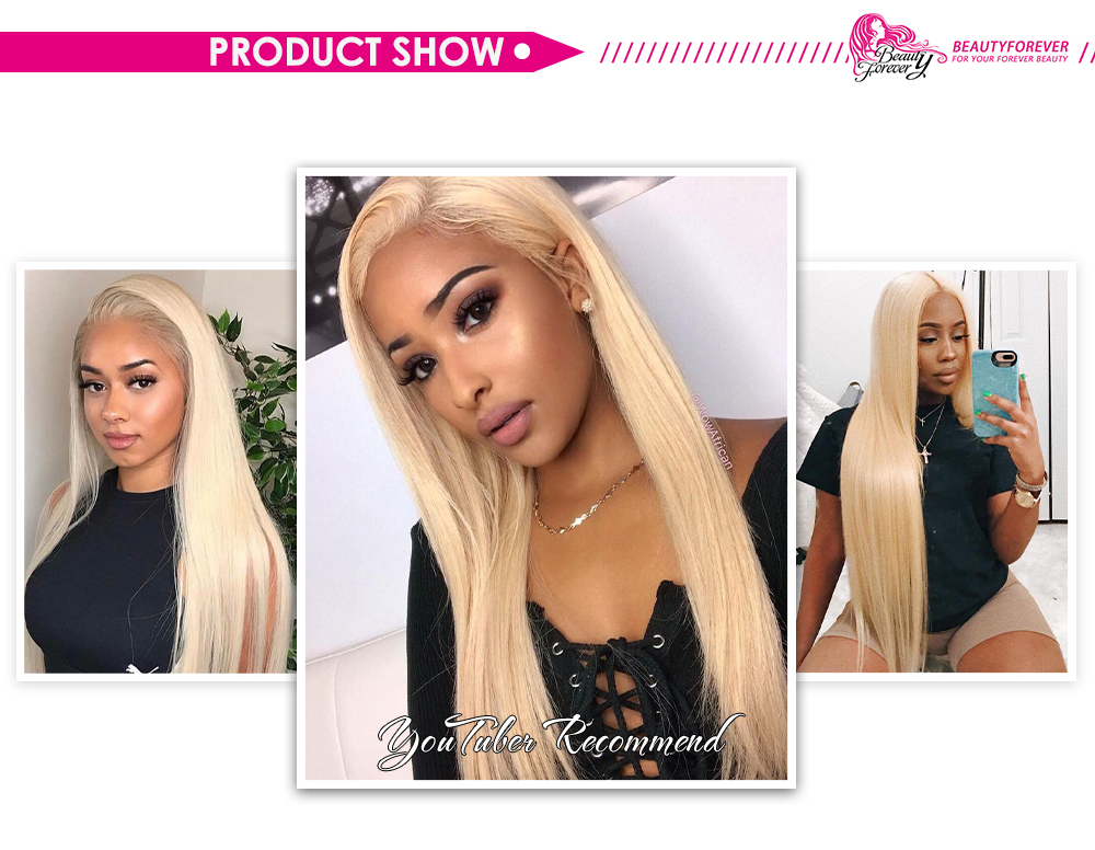 blonde straight hair bundles with lace closure